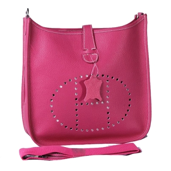HERMES 1551 peach Cow Hide Leather bag
