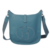 2014 Hermes Evelyne Bag A137 middle blue