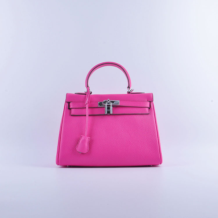 Hermes Kelly 28cm togo Leather 6608 Pink Silver Buckle