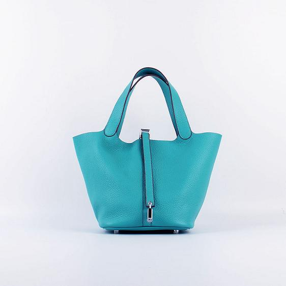 Hermes Picotin 18cm Bags togo Leather 8615 blue