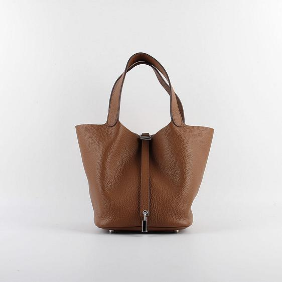 Hermes Picotin 18cm Bags togo Leather 8615 coffee