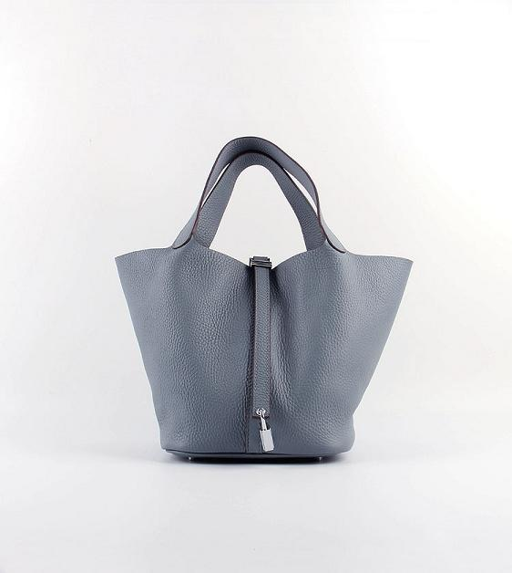 Hermes Picotin 18cm Bags togo Leather 8615 gray-blue