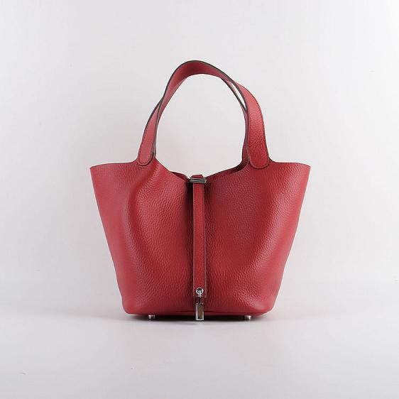 Hermes Picotin 18cm Bags togo Leather 8615 red