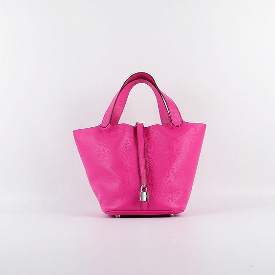 Hermes Picotin 18cm Bags togo Leather 8615 rose