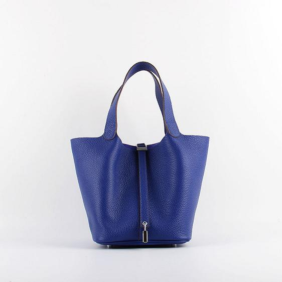 Hermes Picotin 22cm Bags togo Leather 8616 brilliant blue
