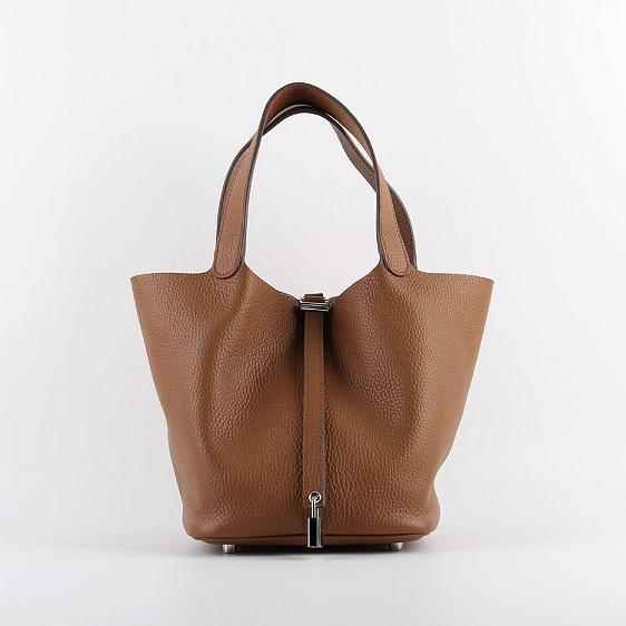 Hermes Picotin 22cm Bags togo Leather 8616 coffee