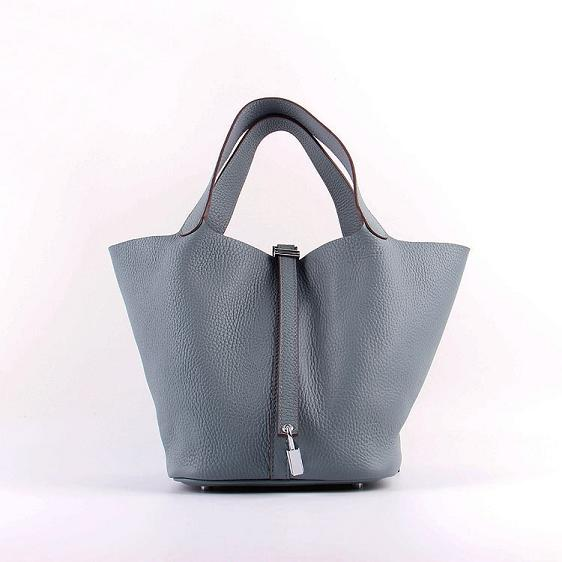Hermes Picotin 22cm Bags togo Leather 8616 gray-blue