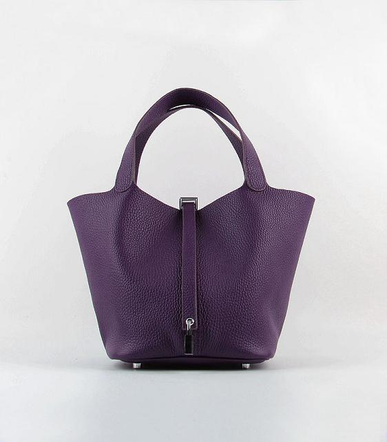 Hermes Picotin Lock 22cm Bags togo Leather 8616 purple