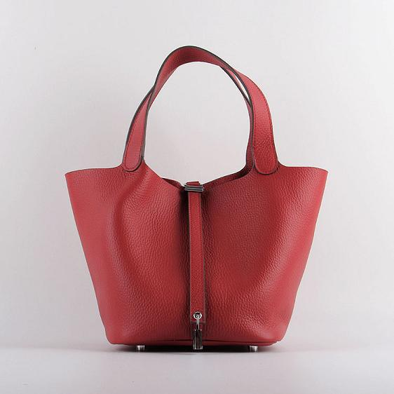 Hermes Picotin 22cm Bags togo Leather 8616 red