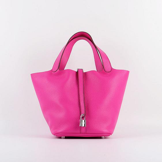 Hermes Picotin Lock 22cm Bags togo Leather 8616 rose