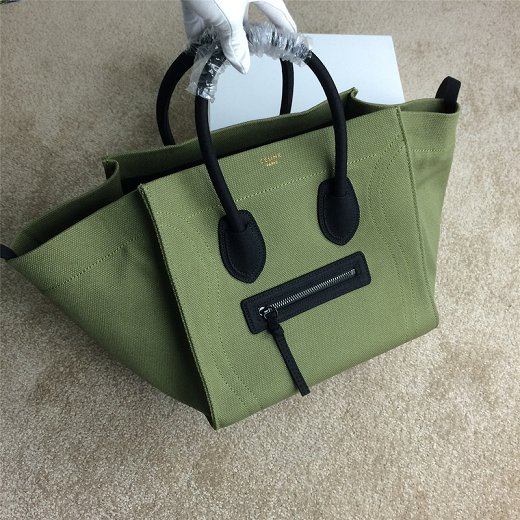 2015 Celine new model canvas 9901-5 green&black