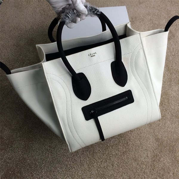 2015 Celine new model canvas 9901-5 white&black