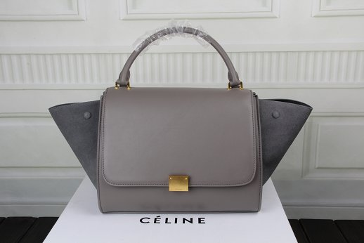 Celine Trapeze Bag Original Leather 3342-1 gray