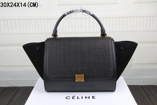 Celine Trapeze Bag Original Leather 3342-4 black