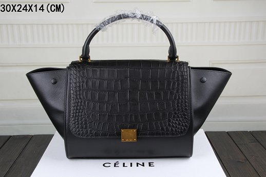 Celine Trapeze Bag Original Leather3342-3 black