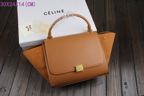 Celine Trapeze Bag Original Leather 3342-1 light coffee