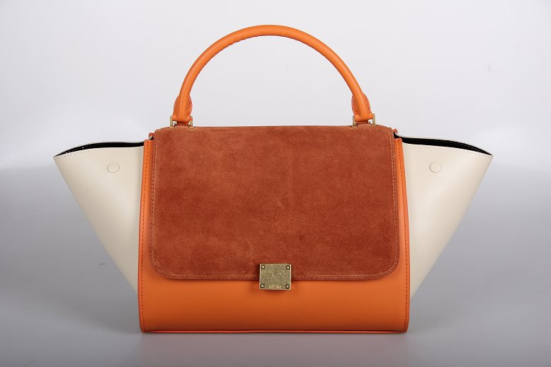 Celine Trapeze Bag Original Leather 3342-1 naturals&orange&off white