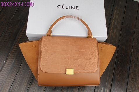 Celine Trapeze Bag Original Leather 3342-4 light coffee