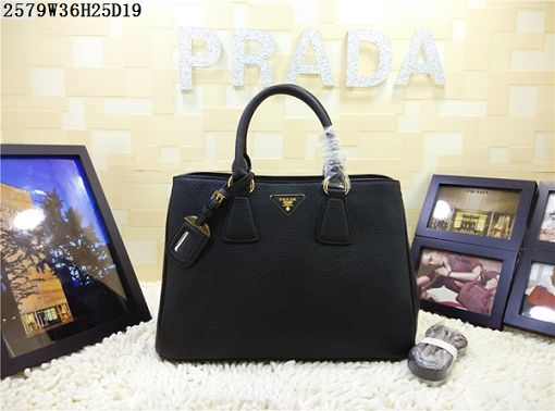 2015 Prada new model litchi grain 2579 black