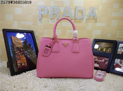 2015 Prada new model litchi grain 2579 pink