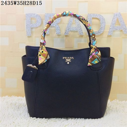 2015 Prada new models shopping bag 2435 black