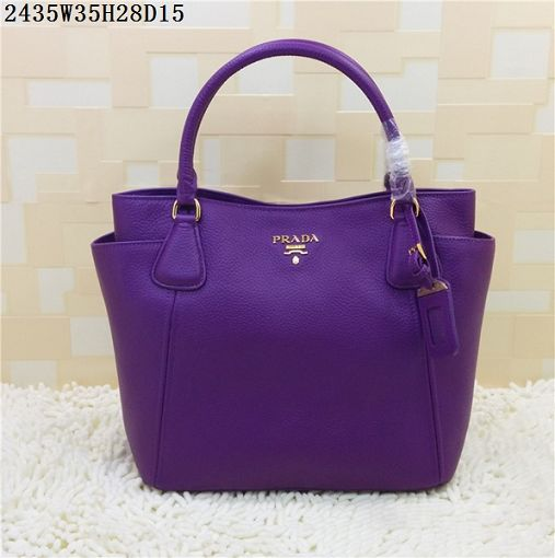 2015 Prada new models shopping bag 2435 purple