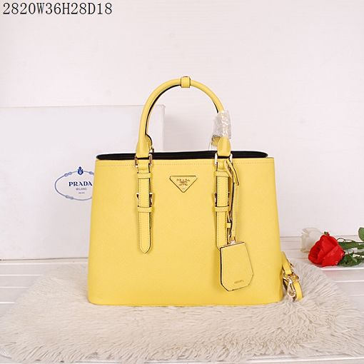2015 Prada spring and summer new models 2820 lemon yellow