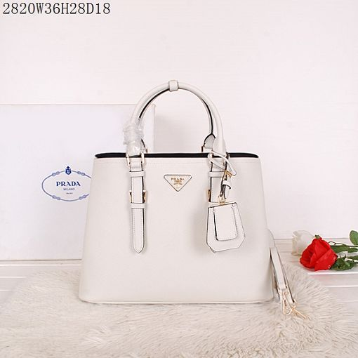 2015 Prada spring and summer new models 2820 rice white