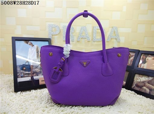 2015 Prada new model shopping bag 5008 purple