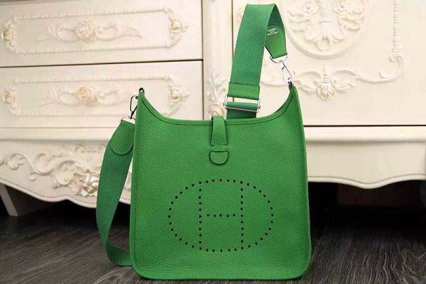 Hermes evelyne hot style original leather H1188 green