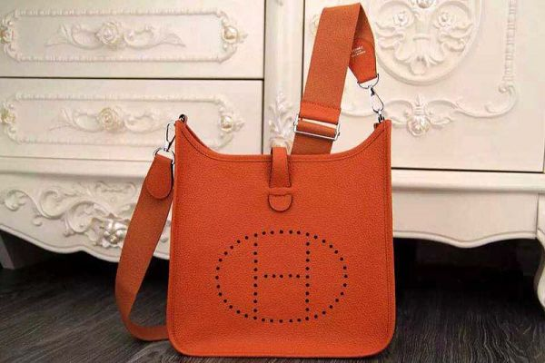 Hermes evelyne hot style original leather H1188 orange