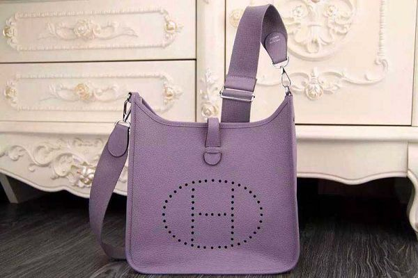Hermes evelyne hot style original leather H1188 purple