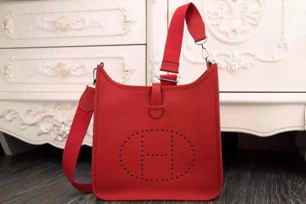 Hermes evelyne hot style original leather H1188 red