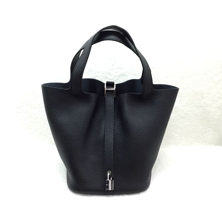 Hermes Picotin Lock 22cm Bags togo Leather 1048 Black