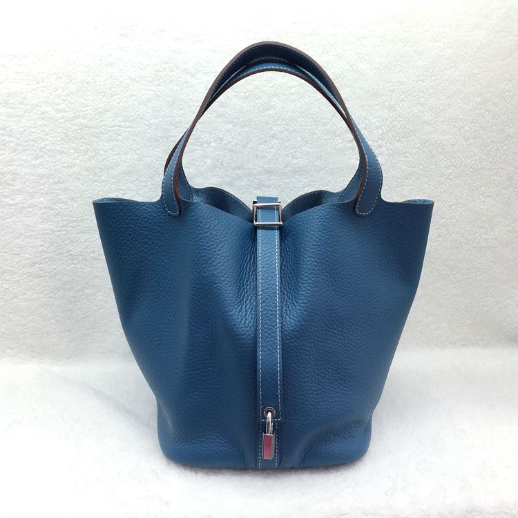Hermes Picotin Lock 22cm Bags togo Leather 1048 Blue