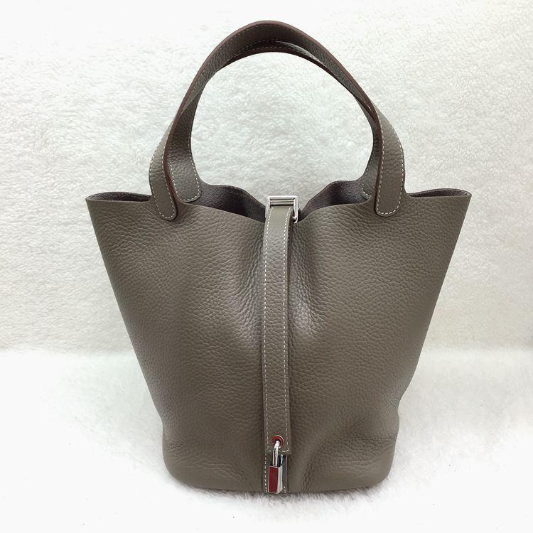Hermes Picotin Lock 22cm Bags togo Leather 1048 Gray