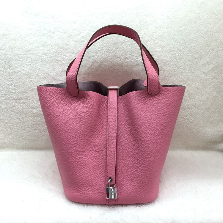 Hermes Picotin Lock 22cm Bags togo Leather 1048 Pink