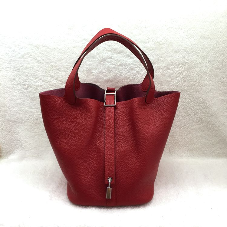 Hermes Picotin Lock 22cm Bags togo Leather 1048 Red