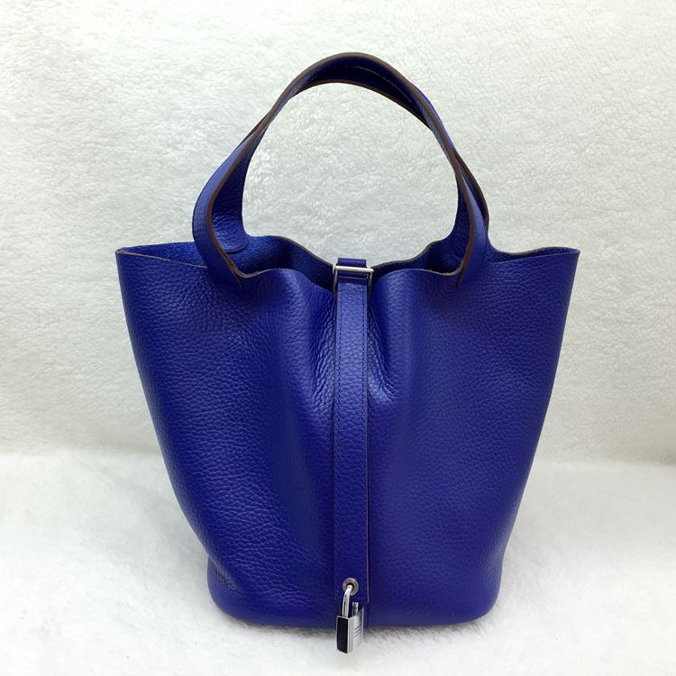 Hermes Picotin Lock 22cm Bags togo Leather 1048 Brilliant blue