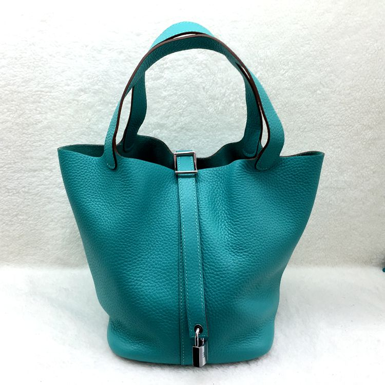 Hermes Picotin Lock 22cm Bags togo Leather 1048 Green