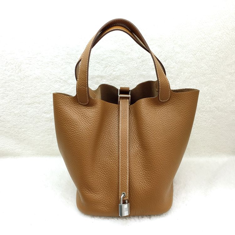 Hermes Picotin Lock 22cm Bags togo Leather 1048 Wheat
