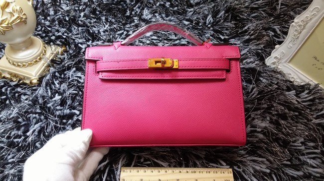 Hermes Kelly 22cm mini tote bag calf leather K011 rose
