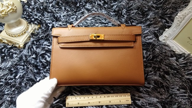 Hermes Kelly 22cm mini tote bag calf leather K011 wheat