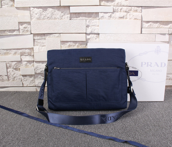 Prada Shoulder bag P9039 Royal blue