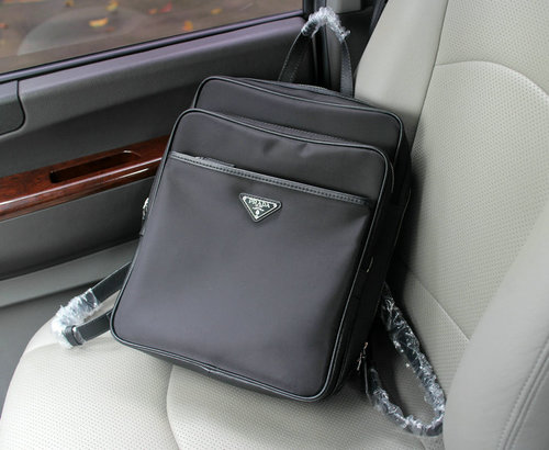 Prada nylon backpack 0665 black