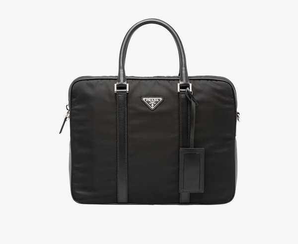 Prada nylon tote bag 0661 black