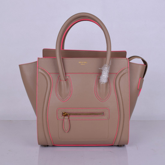 Celine Luggage Micro Tote Bag Original Leather 8802-3 Light Pink
