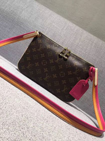 Louis vuitton lorette monogram canvas handbags M44053 rose