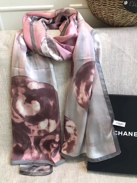 2017 top quality Chanel scarf C1765 pink