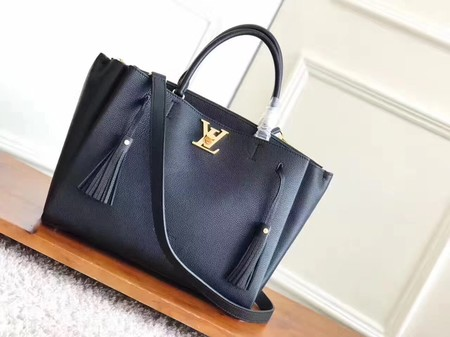 Louis Vuitton original lockmeto lockme Tote Bag M54569 black